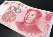 Chinese renminbi bank note poster