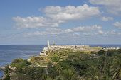 image of el morro castle  - View at the  - JPG