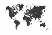 stock photo of armenia  - A Map of the world with a selected country of Armenia - JPG