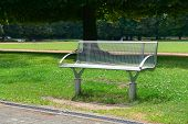 picture of banquette  - Garden bench in the park                                     - JPG