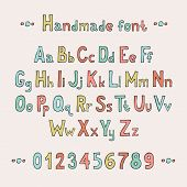 foto of symbol punctuation  - Simple colorful hand drawn font - JPG