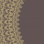 picture of frilly  - Floral vector oriental pattern with damask - JPG