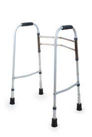 foto of rollator  - Metal walker isolated on a white background - JPG