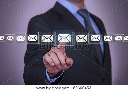Touch Mail on Screen