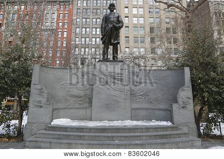 The David Farragut Memorial in Madison Square Park in Manhattan.