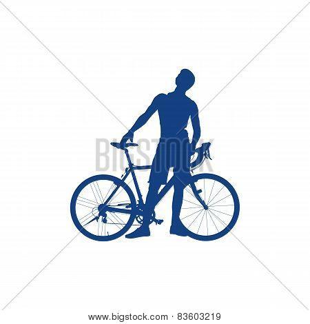 骑自行车的人 矢量图,库存照片和插图
