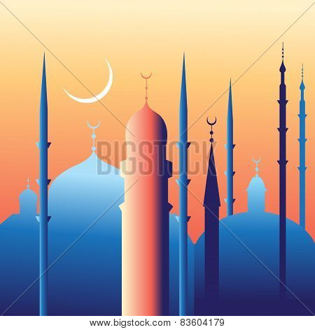 beautiful mosques and minarets