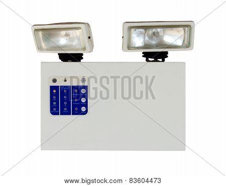Emergency Lighting Isolate On White Background