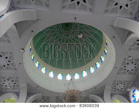 Dome of Sultan Ahmad Shah 1 Mosque in Kuantan, Malaysia