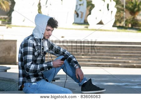 Guy Watching Smartphone