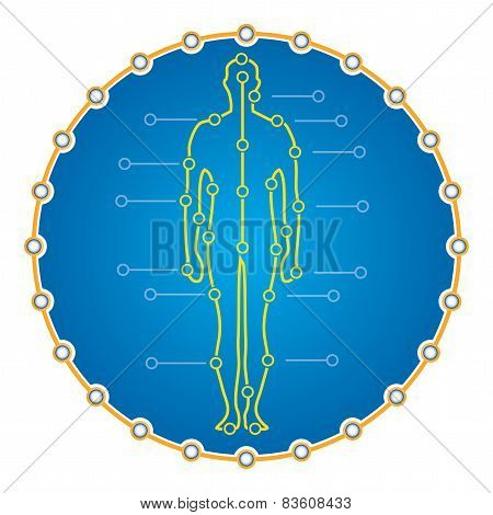 Abstract Human Body For Medical Presentation