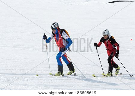 Ski Mountaineering Championships: Two Ski Mountaineer Rise To Mountain On Skis