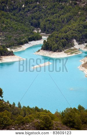 Turquoise Water Between Forested Islands
