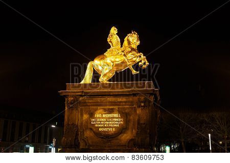 Gold Monument Of Frederick Augustus Ii