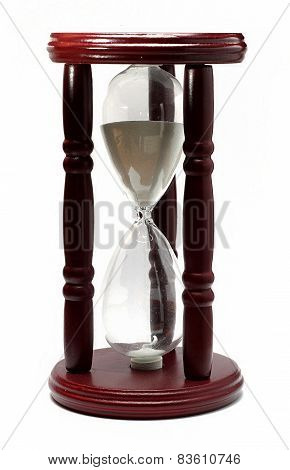 Stylish Wooden Hourglass Brown