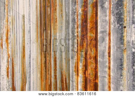 Rust Texture Zinc Wall For Background