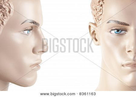 Male Mannequin Face | Studio Isolated
