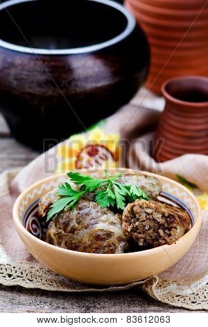 Grechanik With A Liver, A Dish Of Traditional Ukrainian Cuisine.
