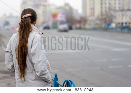 Woman Close To The Street