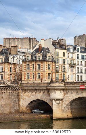 Pont Neuf. The Oldest Bridge Across The Seine River