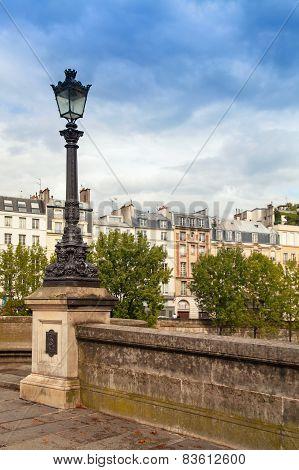 Street Lamp Of Pont Neuf In Paris