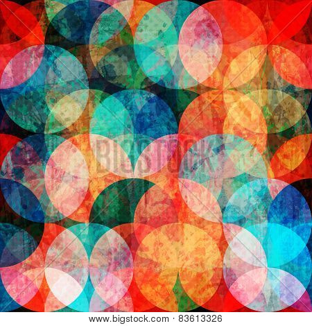 Grunge Watercolor Circle Seamless Pattern