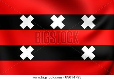 Flag Of Ouder-Amstel, Netherlands.