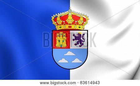 Flag Of Las Palmas, Spain.