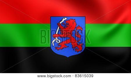 Flag Of Aalsmeer, Netherlands.