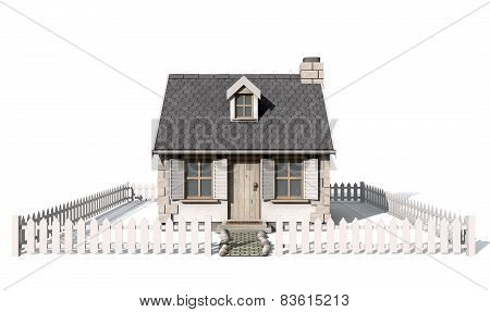 Quaint Cottage Isolated