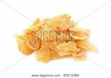 Corn Flakes, Cornflakes Isolated On White Background