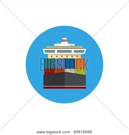 Icon Cargo Container Ship