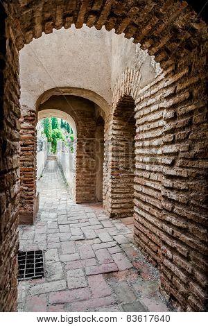 Inside Of Gibralfaro Fortress (alcazaba De Malaga). Malaga City. Spain