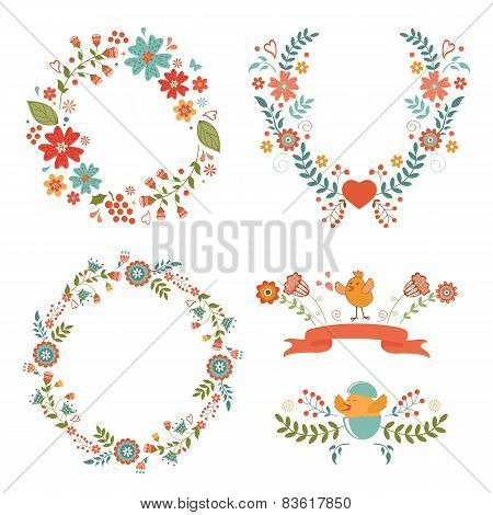 Floral Easter wreaths
