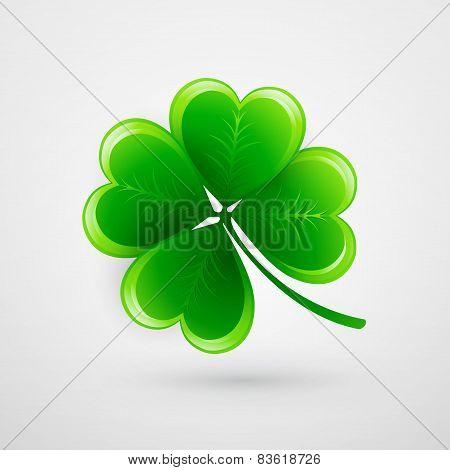 Clover leaf. Saint Patricks Day. Vector illustration
