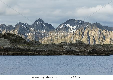 Mountain In Svolvær, Lofoten, Norway
