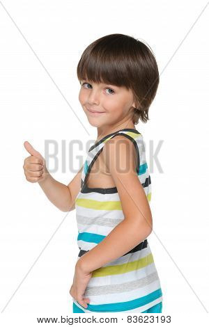 Boy With His Thumb Up