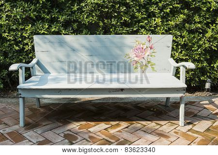 Art Bench In An Garden