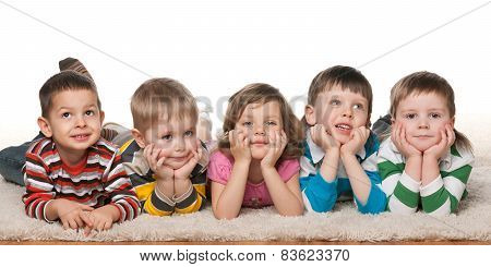 Five Cheerful Children