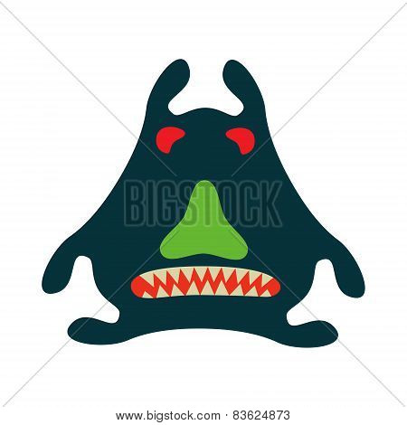 Monster Graphic.  Isolated On White Background.