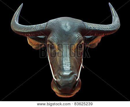 Thailand bull head statue