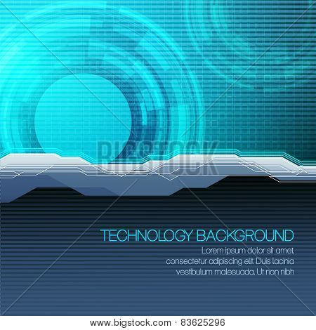 Vector futuristic technical background