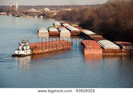 Parking a barge