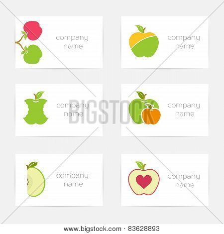 Vector Set Of Symbols For Company Of Apples