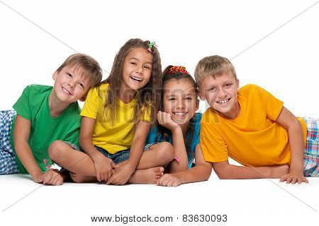 Four Cheerful Children