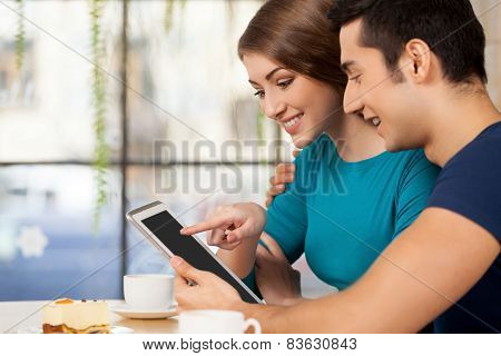 Couple With Digital Tablet.