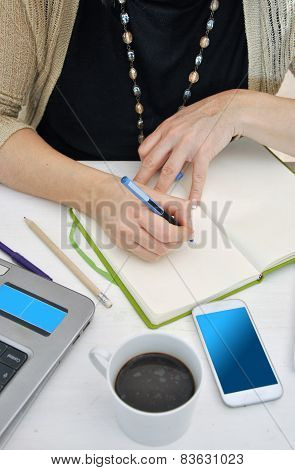 woman working with her computer