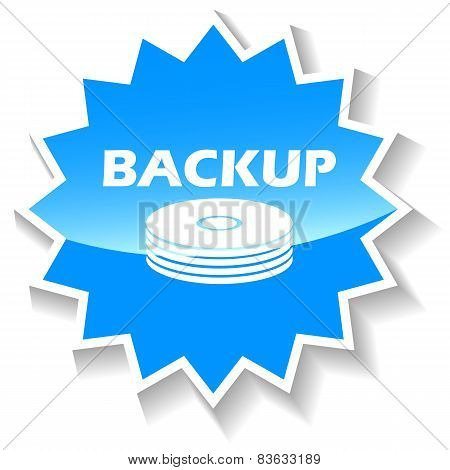 Backup blue icon