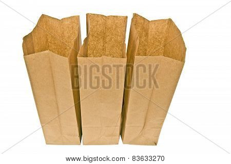Three Open Lunch Bags
