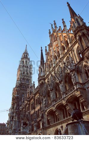 New Town Hall facade in Munich